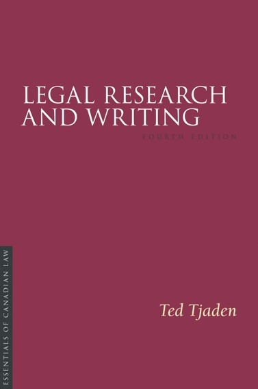 Cover of 4th edition of Legal Research and Writing